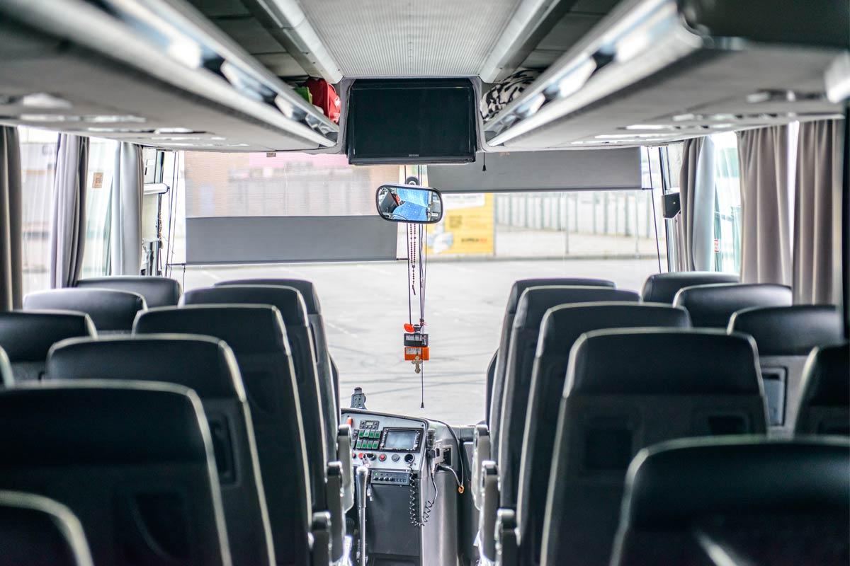 Салон автобусу Setra 315HD.