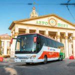Автобус Setra 417 GTHD біля львівського аеропорту.